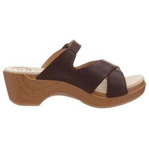 Dansko Sela Brown Clog Slide Sandals